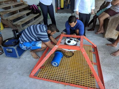 Second deployment of AWAC gauge in St Vincent